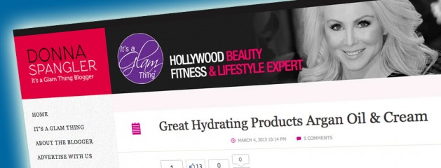 """Featured in Donna Spangler's """"It's a Glam Thing"""""""